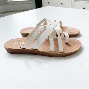 Forever White Sandals